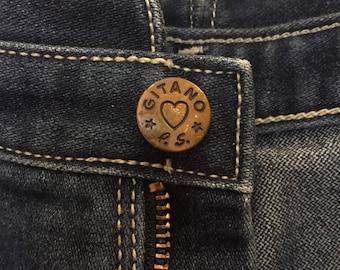 Ultra High Waist 1980s Gitano Jeans