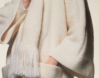 PDF Knit Fringed Scarf Coat (EASY)