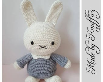 Crochet Miffy hug/Crochet Miffy