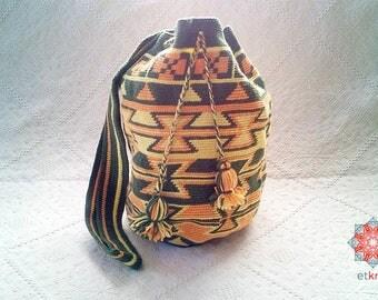 Crochet Bag / Crochet Backpack / Mochila / Ethnic Bag / Tribal Bag / Wayuu Bag / Tapestry Crochet Bag / Boho Backpack / Backpack Women