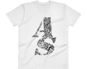 AS Logo V-Neck T-Shirt