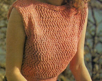 Women's Knitted Top, Knitting Pattern, Instant Download.
