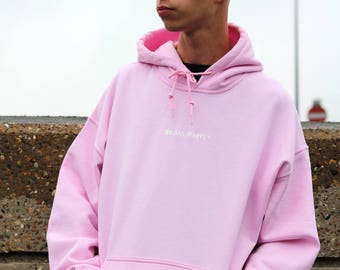 Pastel Pink hoodie super soft and heavy from 100 Hail Marys