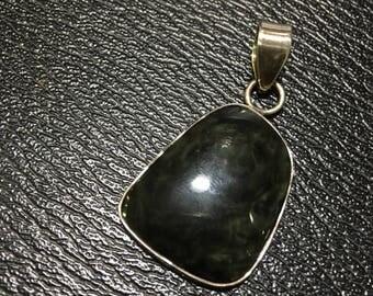 Silver Sheen Obsidian Pendant