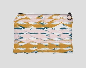 Wavy Stripes Carry All Pouch