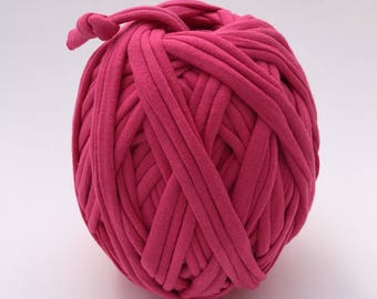Tshirt Yarn | Cotton Yarn | Zpagetti Yarn | Trapillo | Jersey Yarn | Bright Pink