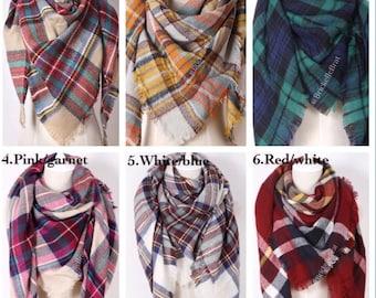Tartan plaid scarf   Etsy