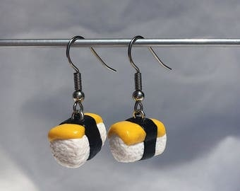 Tamago (egg) earrings!