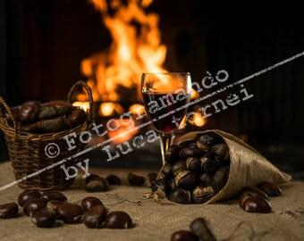 Fine Art print kitchen furniture-chestnuts