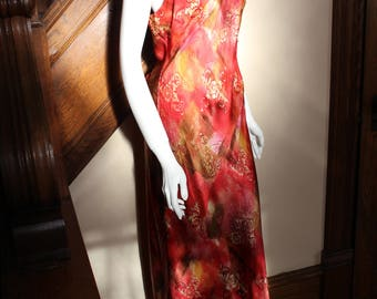 Vintage Victoria's Secret 100% Silk Long Nightgown Medium