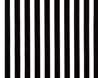Black White Striped Fabric by the Yard Apparel Fabric Striped Quilting Fabric Striped Fabric 100% Cotton Fabric Striped Material Fabric Shop