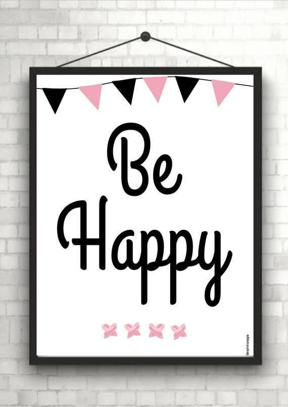 Bekannt affiche a imprimer be happy RN24