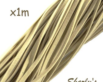 """5 cords of 1 m of suede wool """"eggshell"""""""