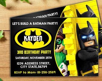The lego batman invitation the lego batman birthday the lego instant download batman lego invitationbatman lego partybatman lego birthdaybatman pronofoot35fo Image collections