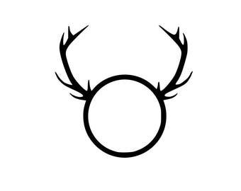 Deer Antlers Svg.