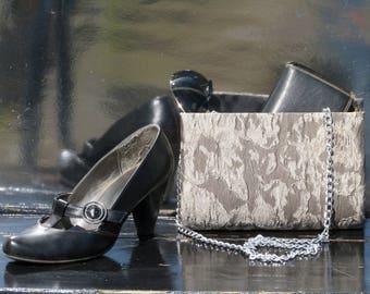 lace fabric clutch bag