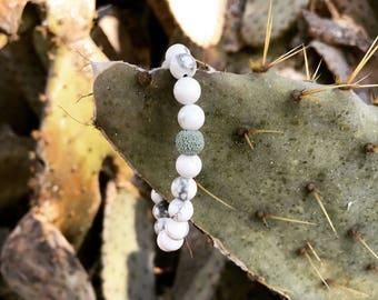 White Marble Diffuser Bracelet