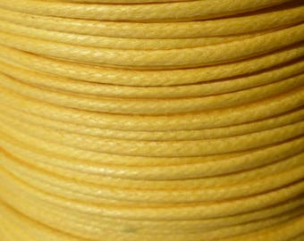 5 meters of Buttercup yellow waxed cotton cord 1 mm