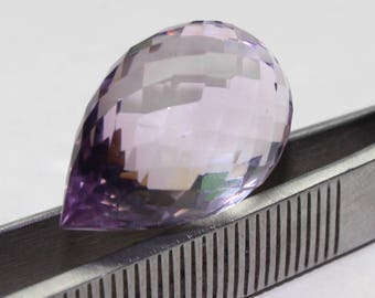 Natural Amethyst Faceted Teardrop Size- 21x13.7 mm Purple Amethyst Code-01