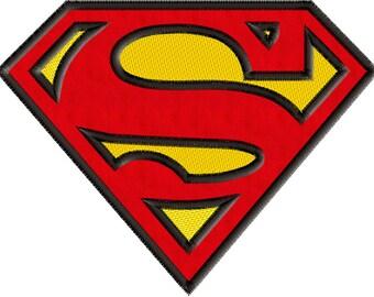 Superman Embroidery Design