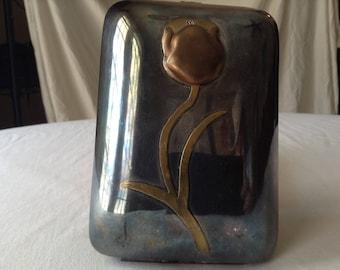 Vintage Art Nouveau metal compact purse