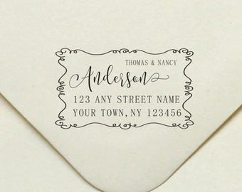 Self-inking custom text stamp