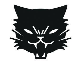 Black Cat vinyl decal goth metal punk american traditional tattoo satan lucifer