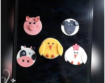 Muffinaufleger Farm Animals