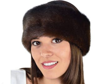Faux Fur Headband, MINK Fur Headband / Neck Warmer