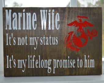 Marine Wife Wall Decor