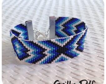 Pattern PDF for Cuff Bracelet in Miyuki beads