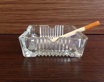 Glass ashtray - vintage glass ashtray - Vintage ashtray glass -