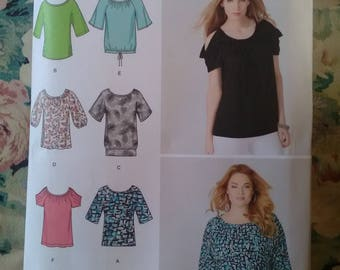 Simplicity 1805 brand new unused sewing pattern. Sew top tunic 6 ways. xxs- xxl