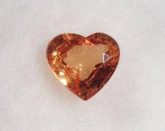 Orange Spessartite Garnet 1.22ct Natural Loose Stone Heart Cut Faceted Gemstone Valentines Gift
