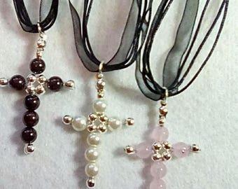 Beautiful Handmade beaded crosses