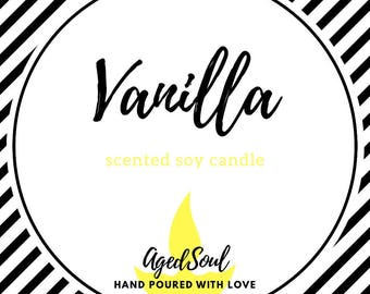 Hand-made Vanilla Soy Candle