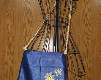 Hippie flower cross body purse