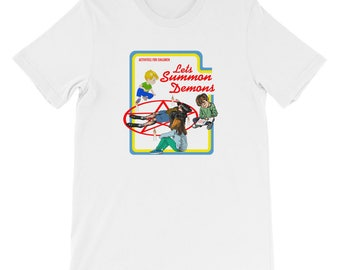 Let's Summon Demons T-Shirt Funny T-Shirt Demon Demons Funny Tshirts Funny T Shirts Demon Tshirt Funny Shirts Pentagram T-shirt Satanic Joke
