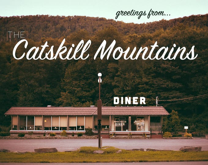 POSTCARD - Greetings from The Catskill Mountains - Phoenicia Diner