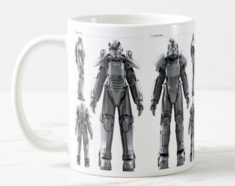 Fallout 4 Power Armor Mug - Fallout 4 Mug - T-45, T-51, T-60, X-01, Gift for Him - Gift for Her - Birthday Mug - Gaming Mug