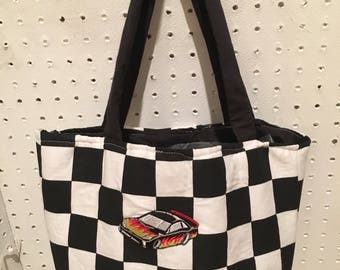 Nascar checkered Purse/Tote