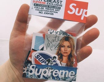 Brand Stickers stickers pack Vinyl stickers supreme stickers bape sticker thrasher palace skateboards macbook stickers new year 2018 gucci