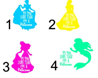 Disney Princess Inspired Decal