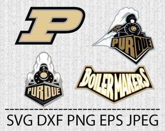 SVG Purdue Boilermakers Logo Vector Layered Cut File Silhouette Cameo Cricut Design Template Stencil Vinyl Decal Tshirt Transfer Iron on