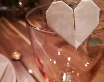 Placeholder origami hearts