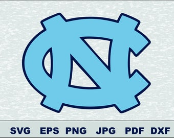 University North Carolina Tar Heels SVG DXF PNG Logo Silhouette Studio Transfer Iron on Cut File Cameo Cricut