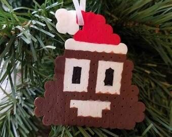 Santa Poop Emoji Ornament
