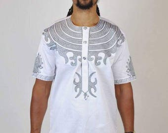 Dashiki white dress