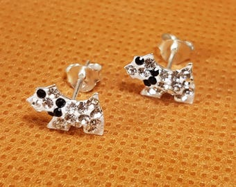 Silver Earring Studs-Dogs Jewelry, Charm Earring Studs, Cute Jewelry, Cute Dogs, Cool girl, EST-011