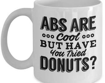 Donut Mug, Donut Coffee Mug, Fitness Mug, Workout Mug, Gym Mug, Funny Workout Mug, Funny Mug, Gift For Donut Lover, Funny Donut Mug